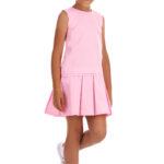 Rochie roz plisată