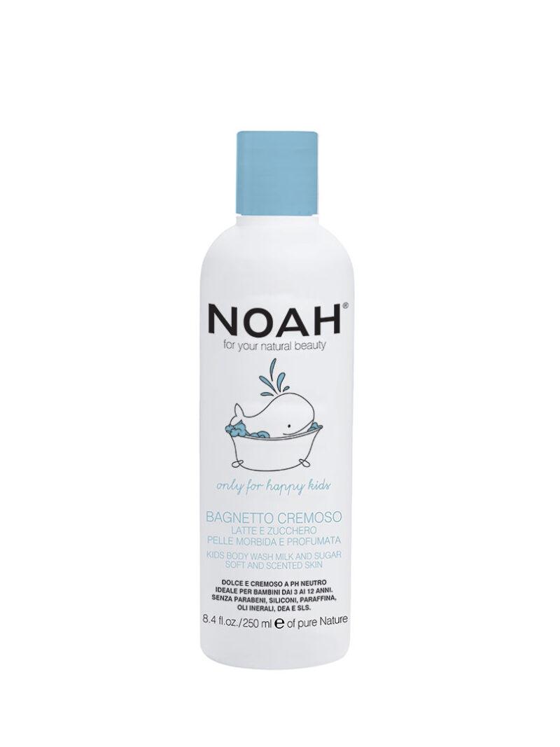 Gel de duș cremos cu lapte & zahăr pentru copii , Noah, 250 ml