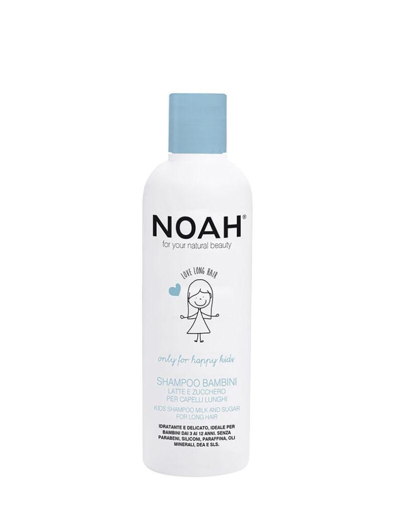 Șampon pentru copii cu lapte & zahăr pentru păr lung, Noah, 250 ml