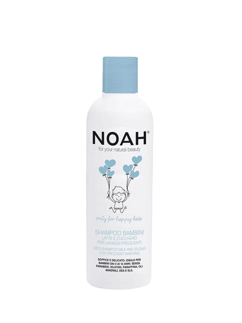 Șampon cu lapte & zahăr pentru spălare frecventă pentru copii, Noah, 250 ml