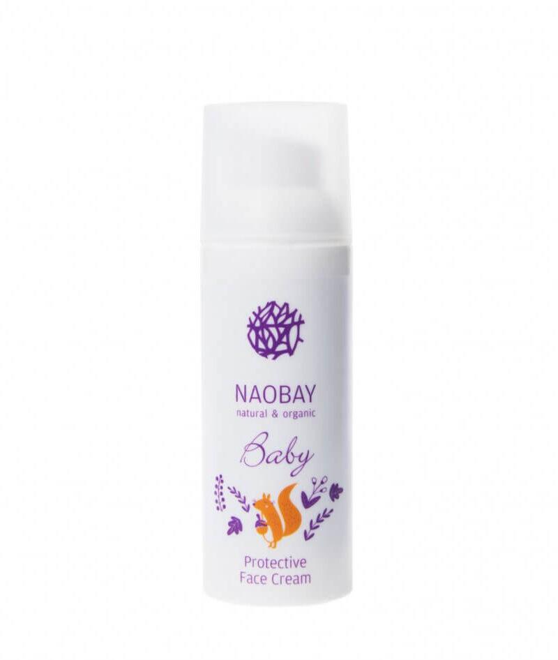 Cremă de față protectoare BIO pentru copii cu extracte organice de gălbenele și mușețel, Naobay, 100 ml
