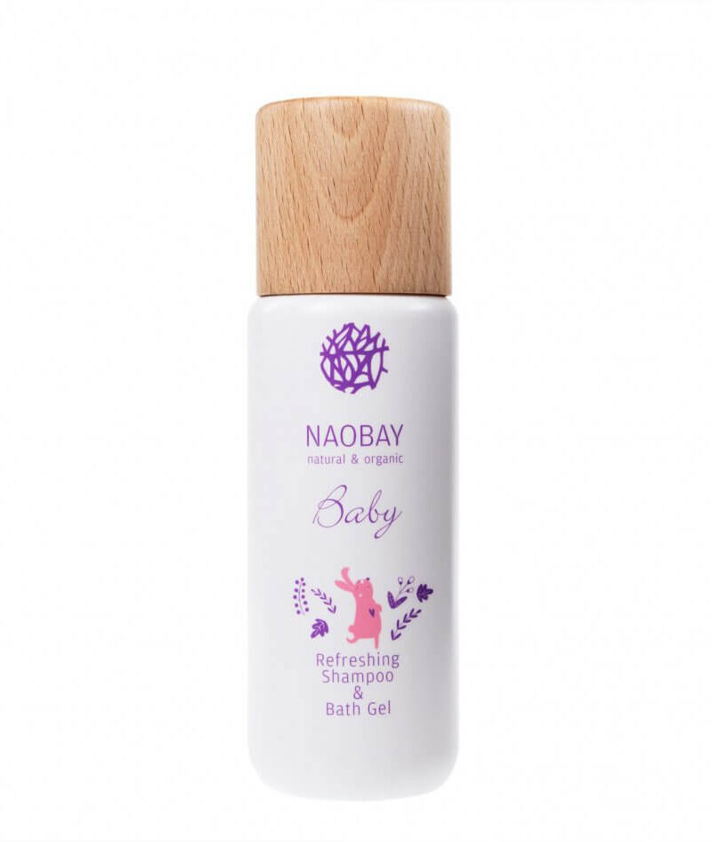 Șampon și gel de duș BIO hidratant cu extract de gălbenele organic pentru copii, Naobay, 200 ml