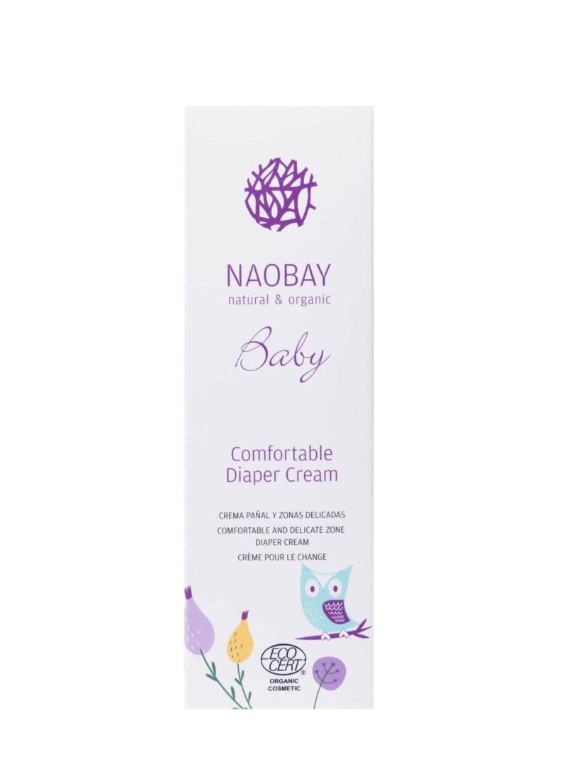 Cremă organică emolientă împotriva iritației de scutec, Naobay, 100 ml